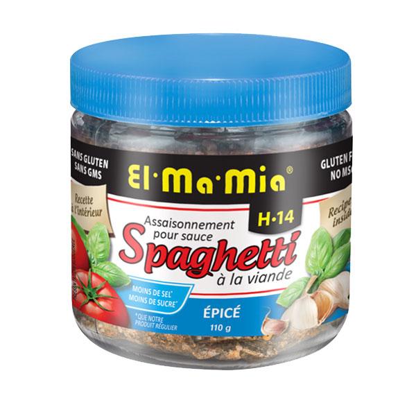 Assaisonnement épicé pour sauce à spaghetti à la viande avec moins de sel et moins de sucre