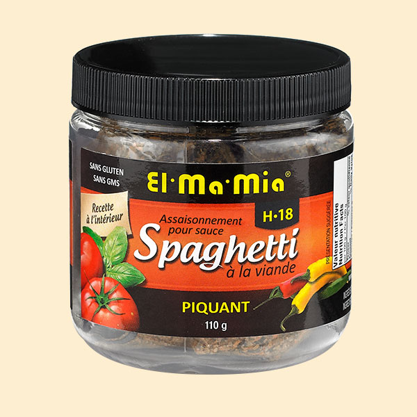 Assaisonnement piquant pour sauce à spaghetti à la viande